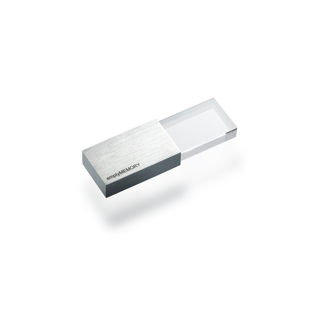 Clé USB 8 GO TRANSPARENCY BEYOND OBJECT (ARGENT)