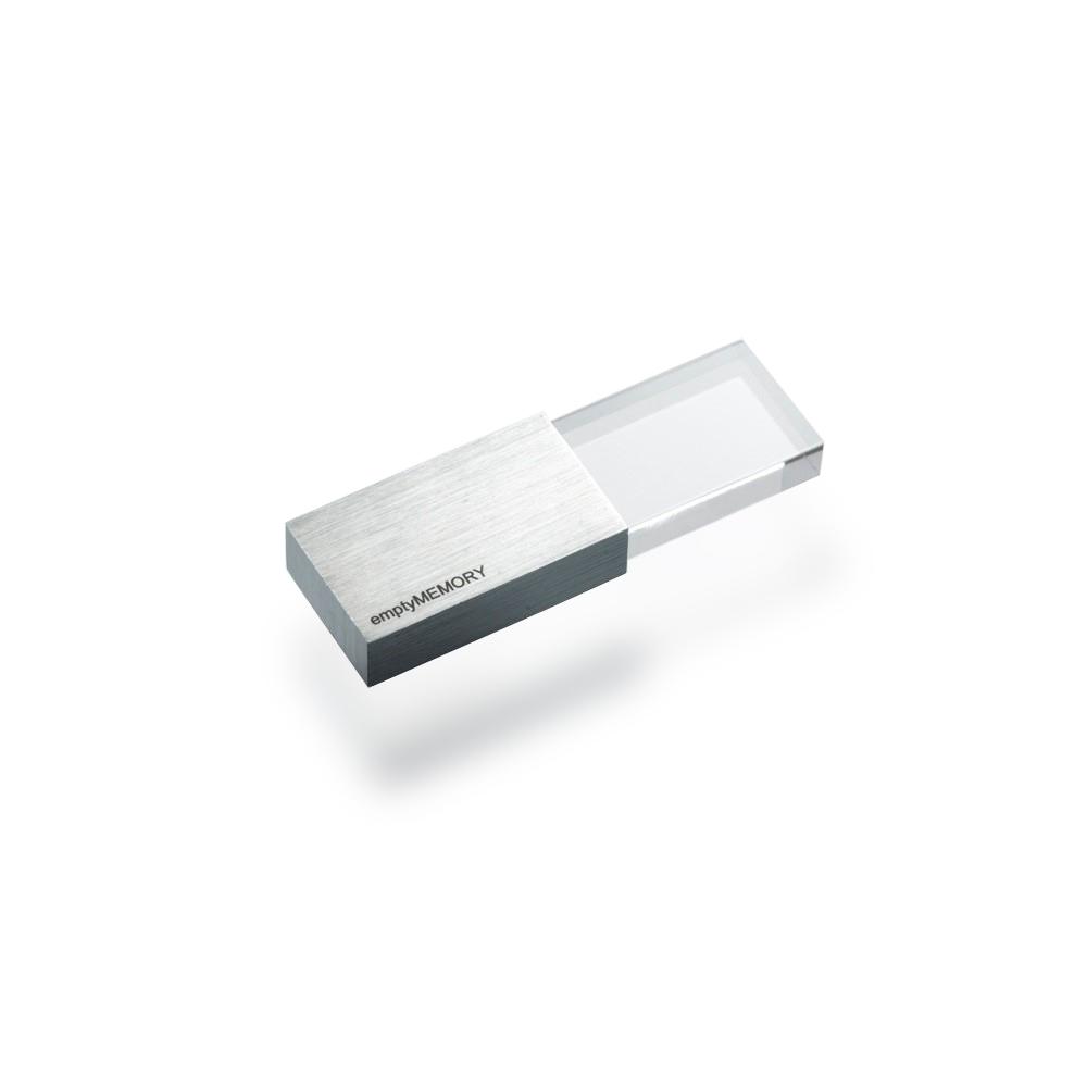 Clé USB 8 GO TRANSPARENCY BEYOND OBJECT (ARGENT)