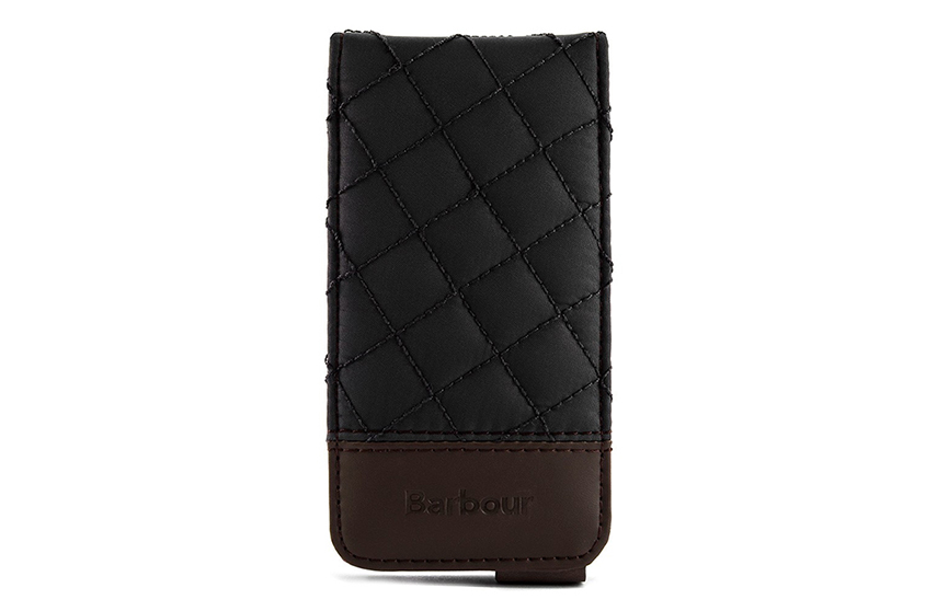 Etui iPhone 5 Barbour matelassé (noir)