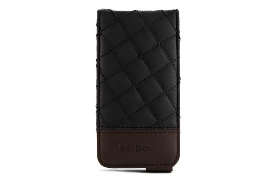 Etui iPhone 5 Barbour matelassé (noir)