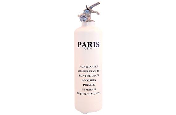 Extincteur Fire Design Quartiers VIP Paris (Blanc)