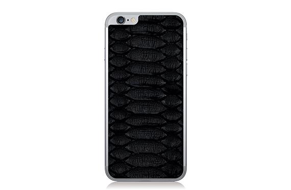 Sticker en cuir de python Jamie Clawson iPhone 6 (Noir)