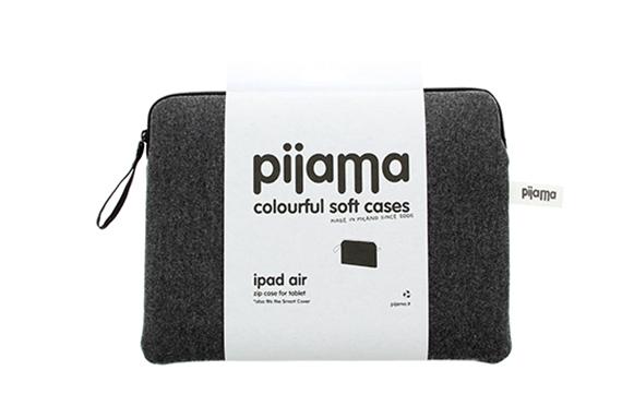 Housse Zippée iPad Air Pijama (Flanelle Grise)