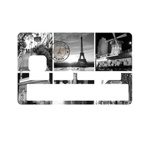 Sticker CB Symbols Paris B&W