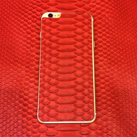 Sticker en cuir de python Jamie Clawson iPhone 6 (Rouge)