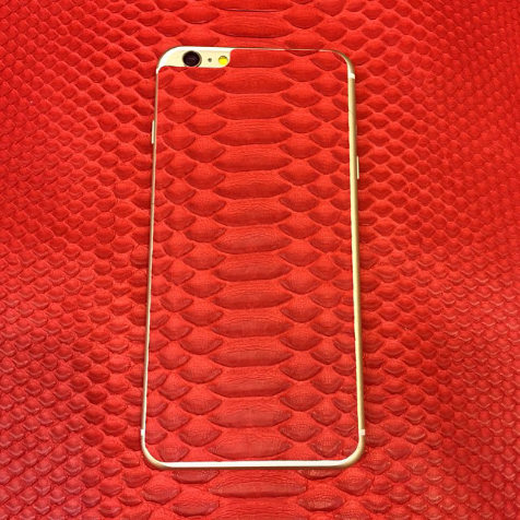 Sticker en cuir de python Jamie Clawson iPhone 6 (Rouge)