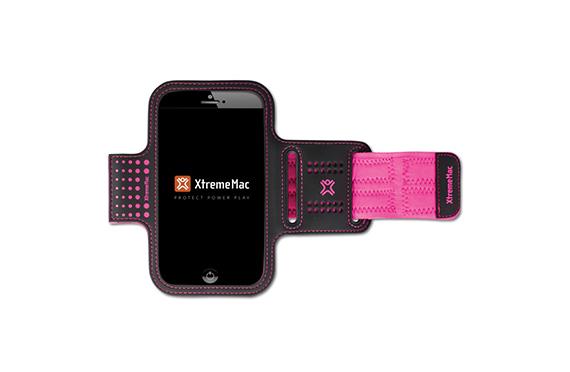 Brassard de sport XtremeMac pour iPhone 6 et Galaxy S5 (Noir/rose)