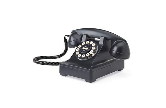 Téléphone vintage Série 302 Wild and Wolf (Noir)