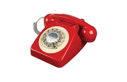 Téléphone vintage Série 746 Wild and Wolf (Rouge)