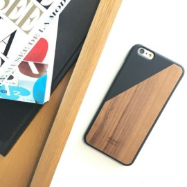 Coque Clic Wooden Noir et Noyer pour iPhone 6 +