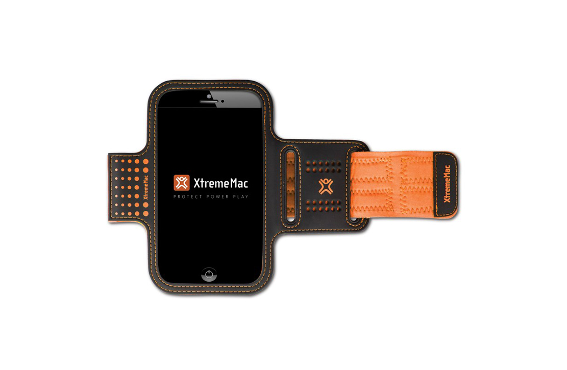 Brassard de sport XtremeMac pour iPhone 6 & Galaxy S5 (Orange/Noir)