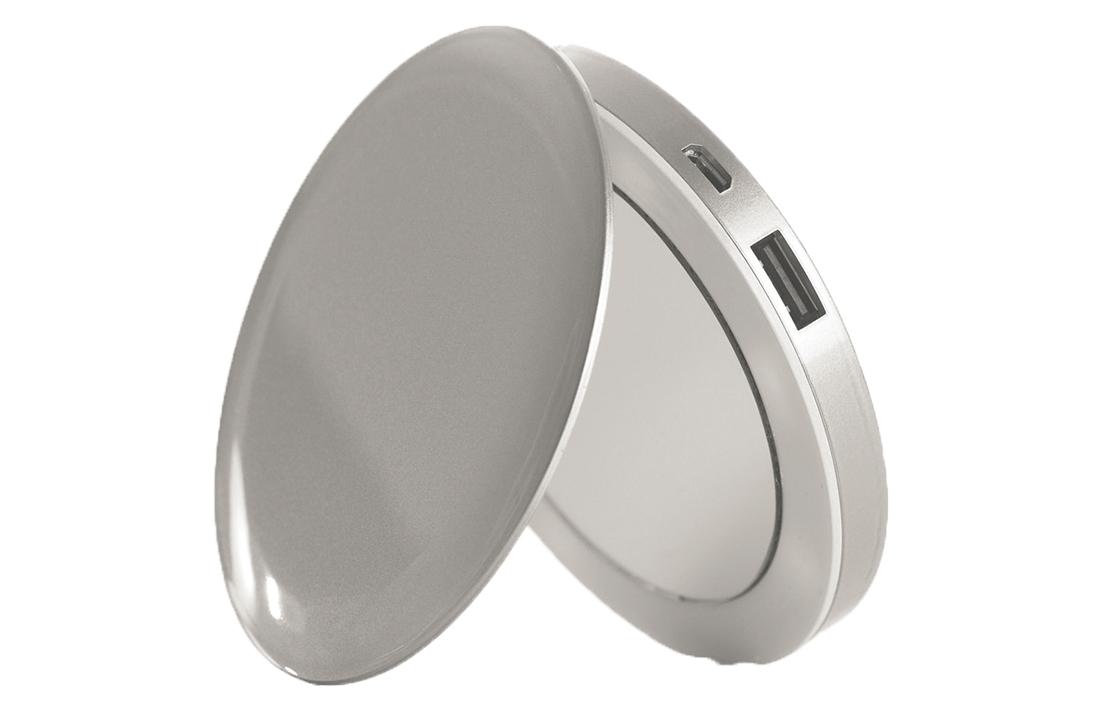 Batterie externe miroir Argent Pearl