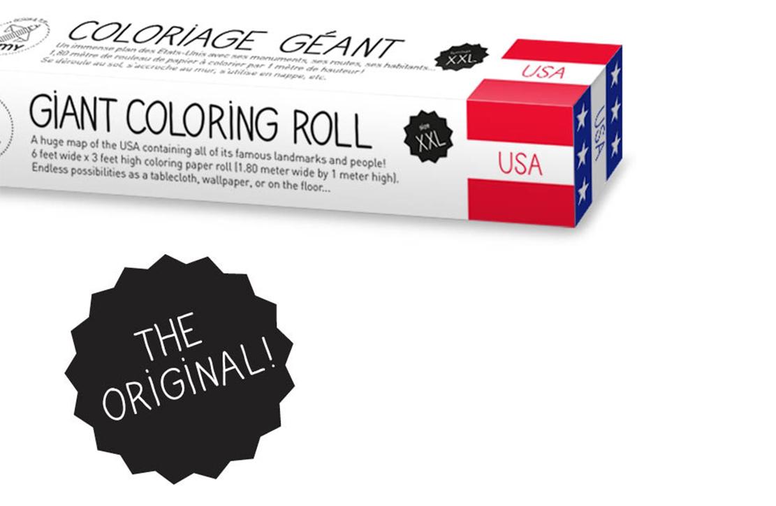 Coloriage XXL USA OMY