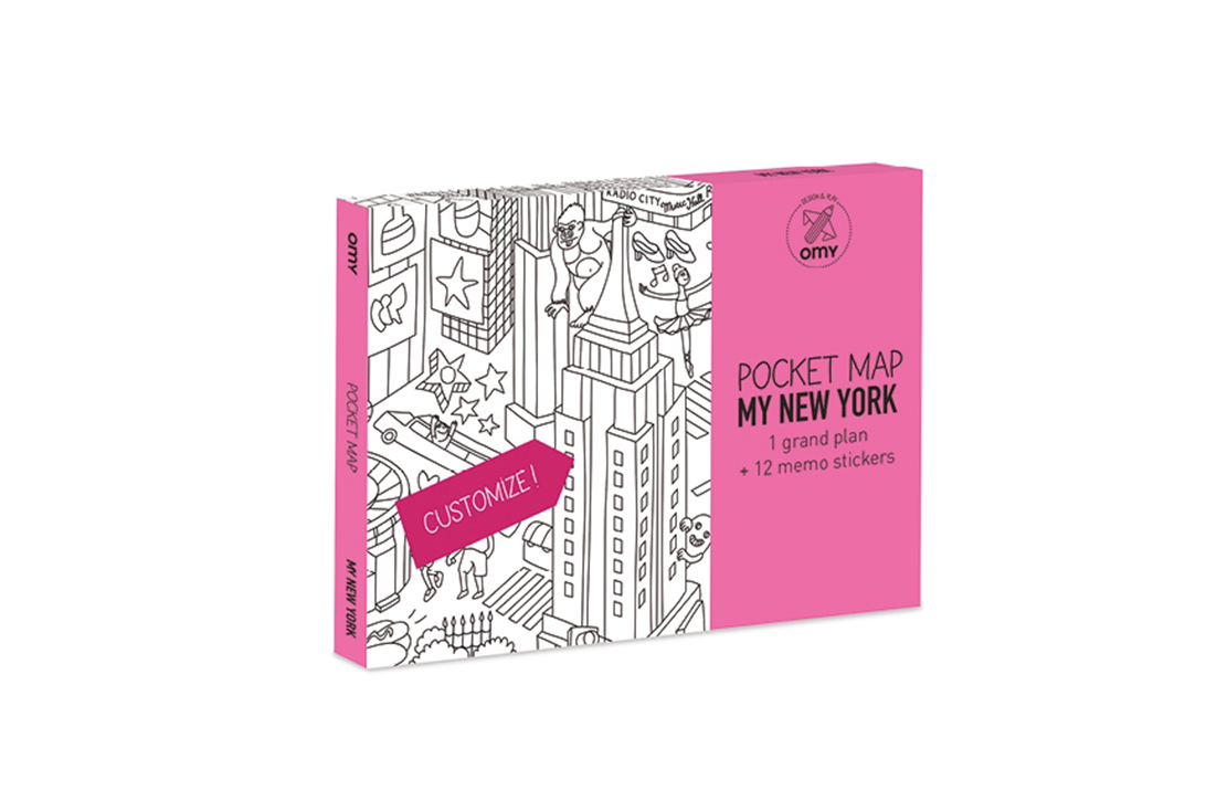 Pocket map My New York OMY
