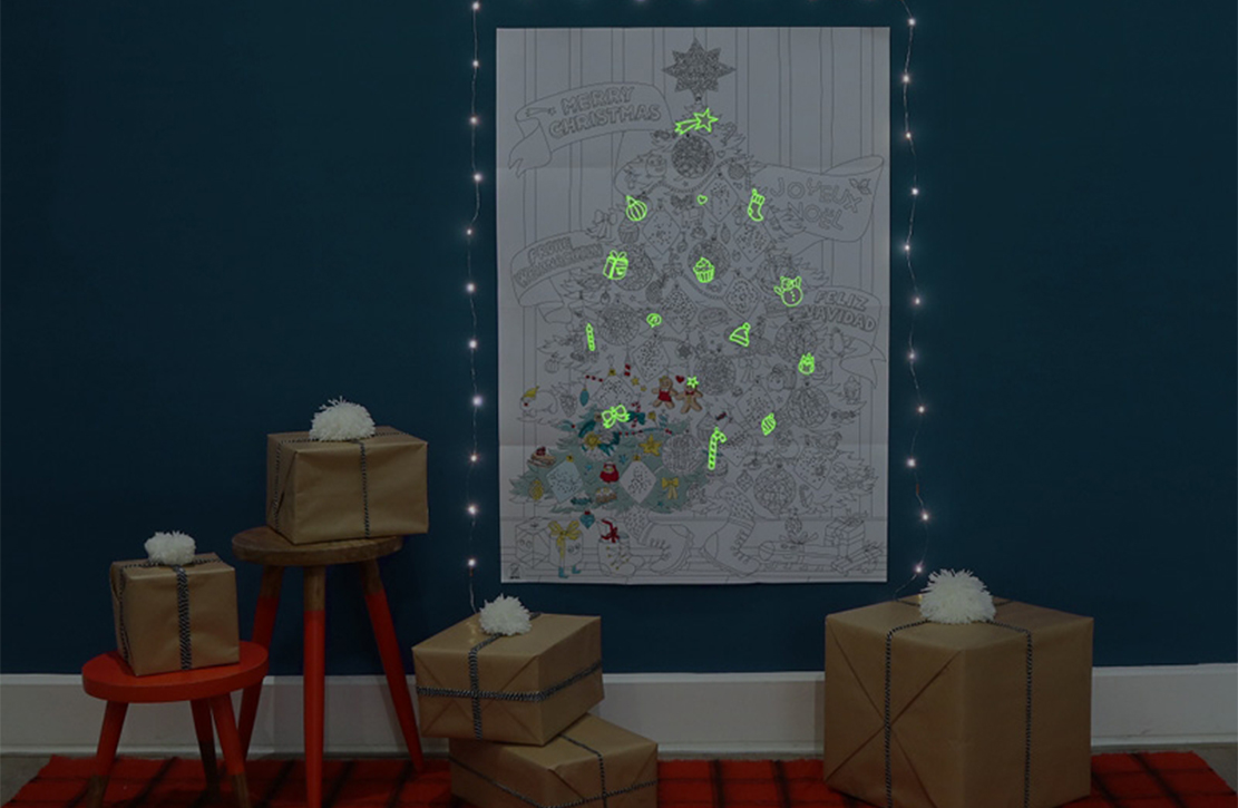 Poster géant Noël OMY