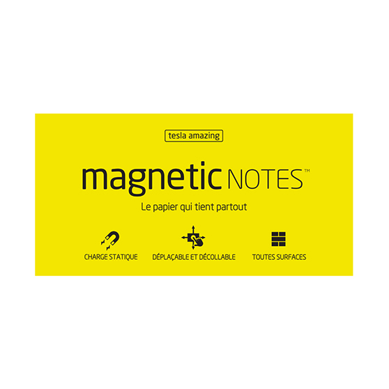 Magnetic Notes Tesla Amazing Jaune