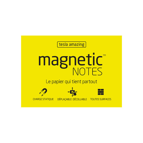 Magnetic Notes M Tesla Amazing Jaune