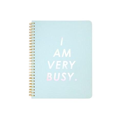 Cahier à spirales I am very busy bleu Ban.do