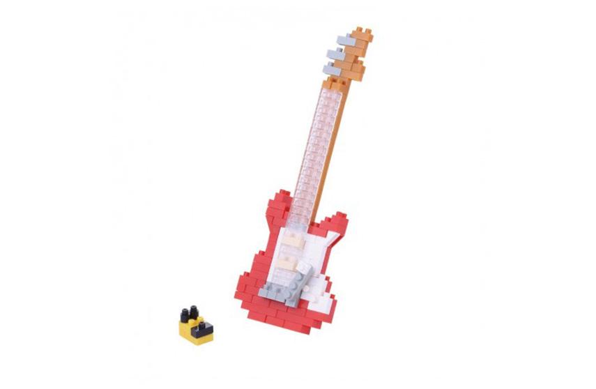 Nanoblock Guitare Electrique rouge