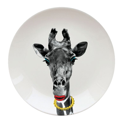 Assiette Wild Dining Gina Girafe Just Mustard