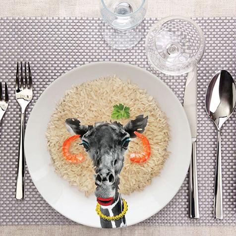 Assiette Wild Dining 23 cm Gina Girafe Just Mustard