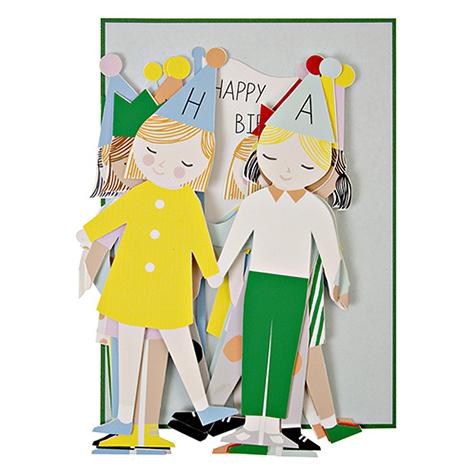 Carte postale Joyeux Anniversaire Concertina Meri Meri
