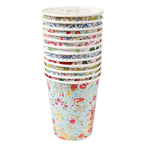 12 gobelets jetables en carton Liberty Meri Meri