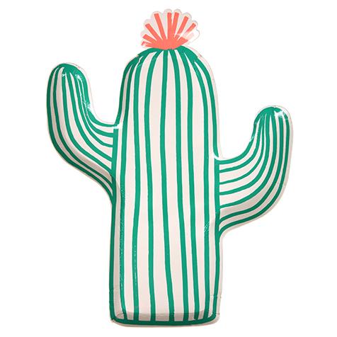 12 assiettes jetables en carton Cactus Meri Meri