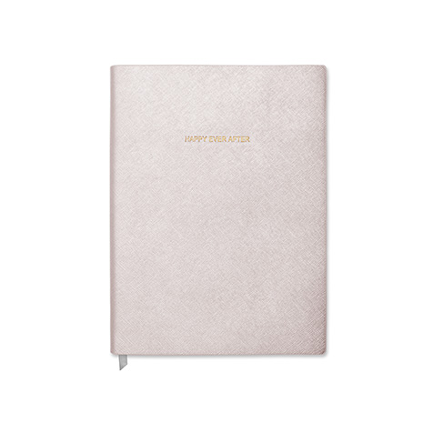 Notebook grand format Happy Ever After blanc métallique Katie Loxton