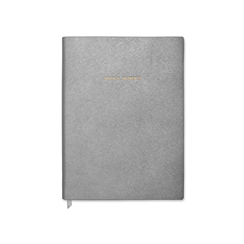 Notebook grand format Magical Moments Gris métallique Katie Loxton