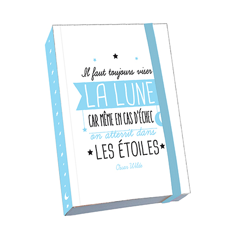 Notebook A6 Citation « Il Faut Toujours Viser La Lune » Kiub