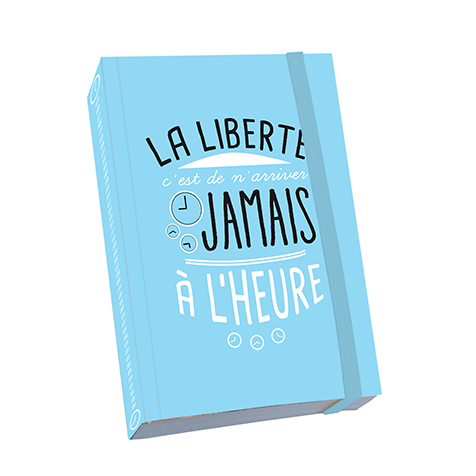 Notebook A6 Citation « La liberté » Kiub