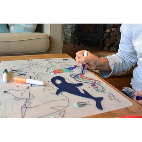 Set de table à colorier Sur La Banquise Super Petit