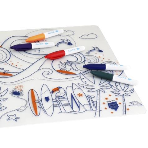 Set de table à colorier Surf Party Super Petit