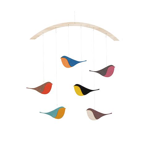 Mobile oiseaux Songbirds Snug Studio