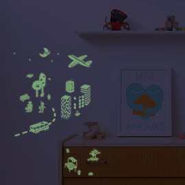 Stickers phosphorescents City Omy