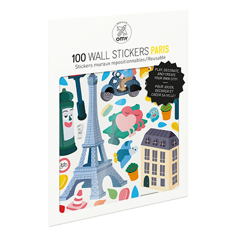 Stickers Paris Omy