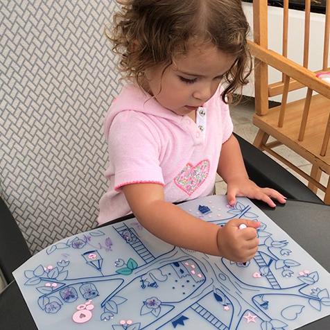 Set de table à colorier Arbre Magique Super Petit