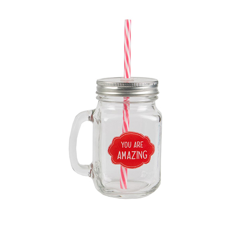Mason jar You are Amazing Sass & Belle