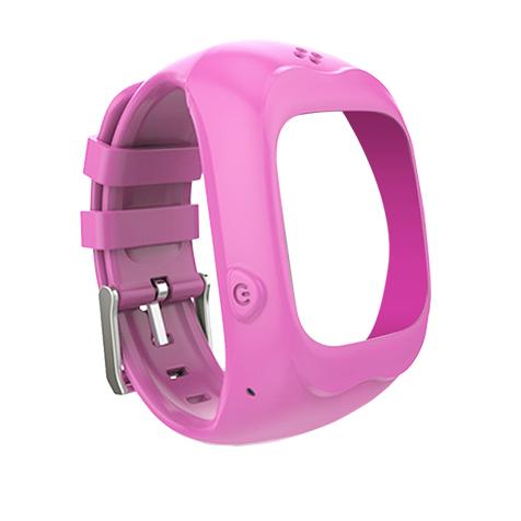 Bracelet pour montre connectée enfant rose Kiddoo
