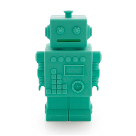 Tirelire Robot Mr. Robert vert KG Design