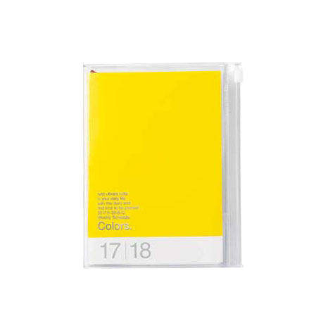Agenda 2018 Colors A6 jaune Mark's
