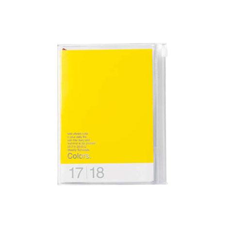Agenda 2018 Colors A6 jaune Mark's