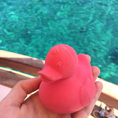 Jouet de bain Canard rose Oli & Carol
