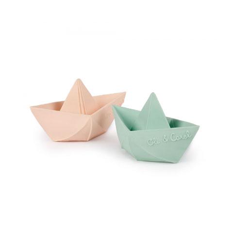 Jouet de bain Origami bateau menthe Oli & Carol