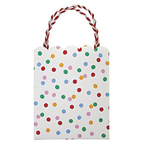8 sacs cadeaux Toot Sweet à pois multicolores Meri Meri