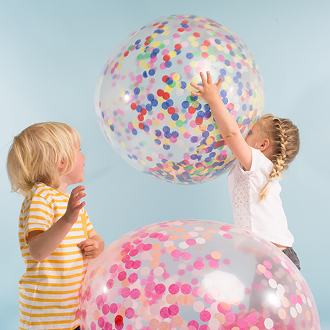 Kit de 3 ballons géants confettis pastel Meri Meri