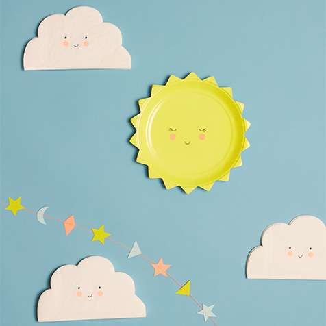 20 serviettes en papier nuage Meri Meri