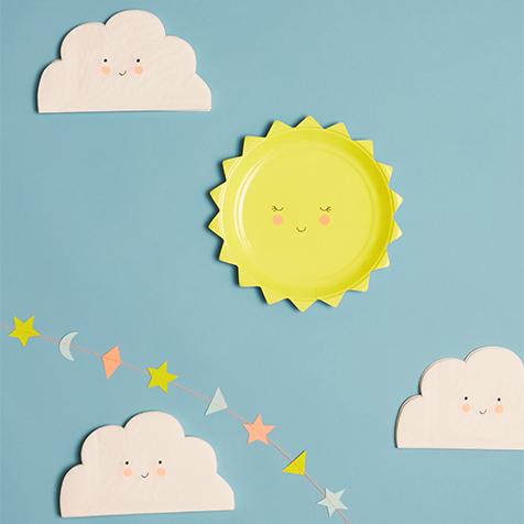 20 serviettes nuage Meri Meri