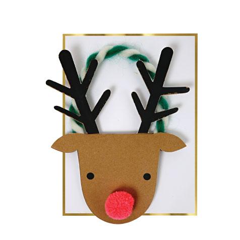 Carte postale Noël renne Meri Meri